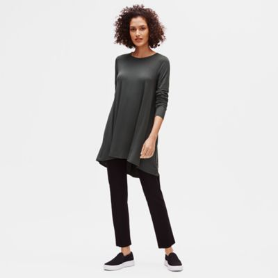 Lightweight Viscose Jersey A-Line Top