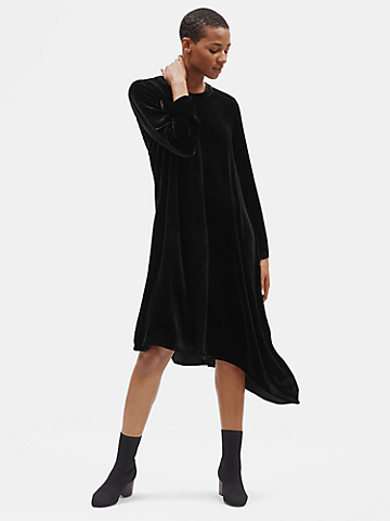 Velvet Asymmetrical Dress