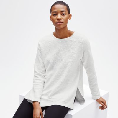 Tencel Jacquard Knit Box-Top