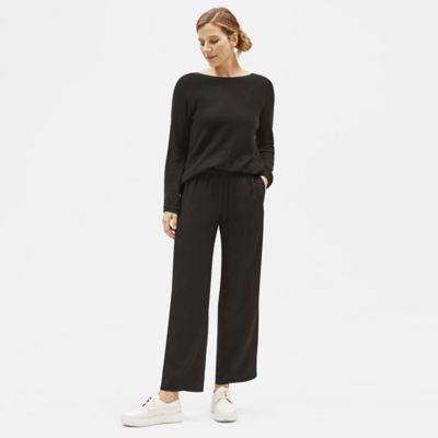 Woven Tencel Grain Straight Pant