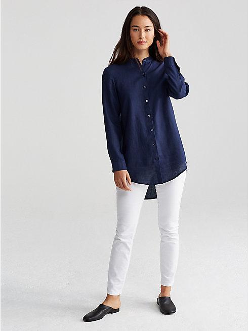 Organic Linen Long Tunic Shirt