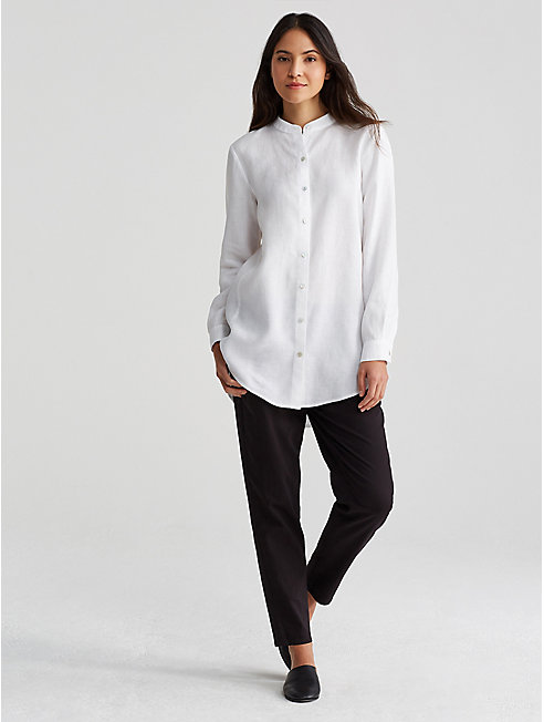 Organic Linen Long Tunic Shirt