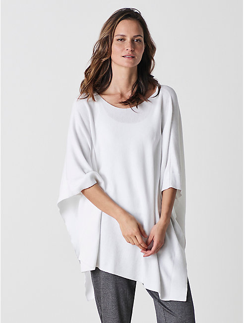 Organic Cotton Links Poncho