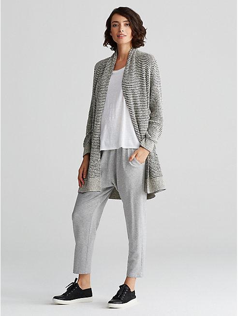 Plus Size Organic Cotton Boucle Cardigan