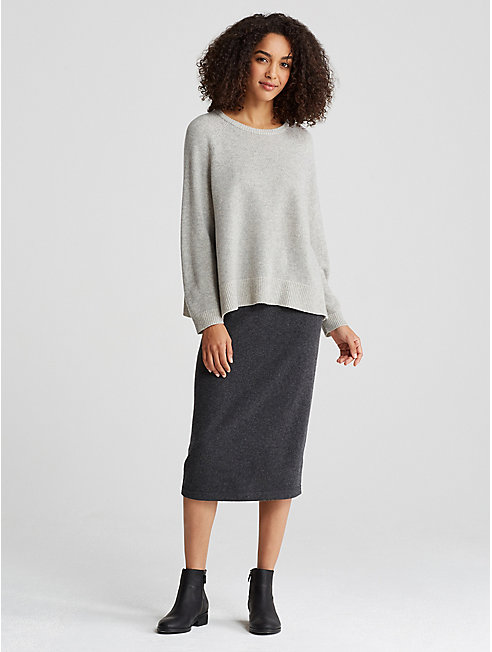 Lofty Recycled Cashmere A-Line Sweater