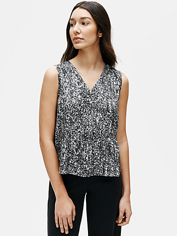 Prism Silk Organic Cotton V-Neck Top