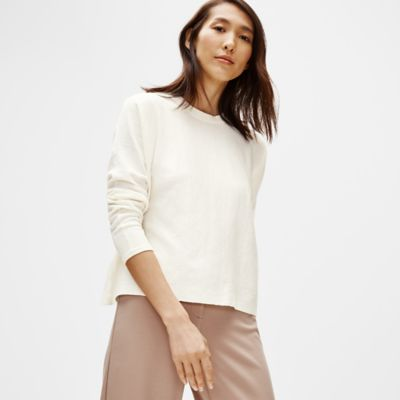Organic Linen Crepe Stretch Box-Top