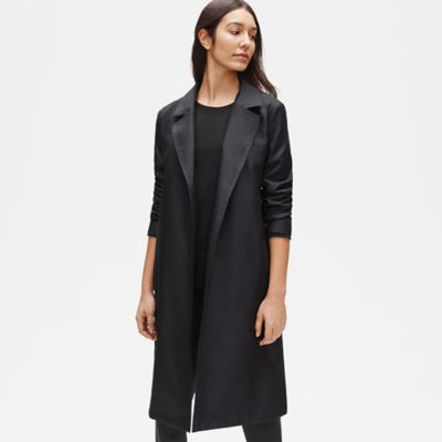 Recycled Polyester Twill Trench Coat