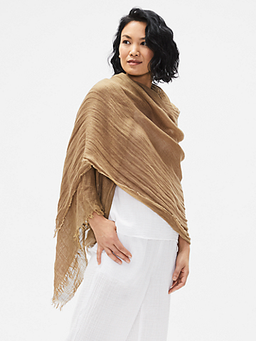 Organic Linen & Tencel Texture Scarf