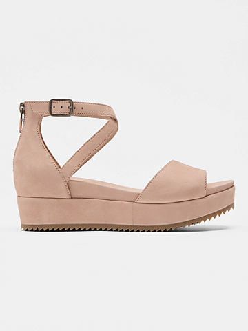 Emmy Tumbled Nubuck Wedge Sandal
