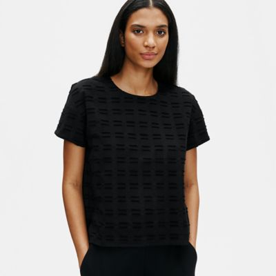 Organic Cotton Shadow Square Top