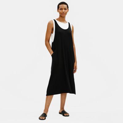Fine Jersey Scoop Neck Dress