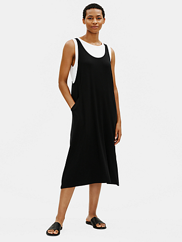 Fine Jersey Scoop Neck Dress