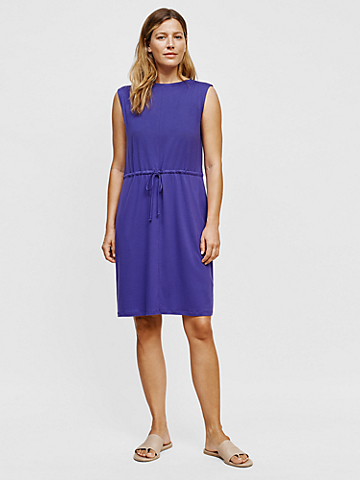 Fine Jersey Bateau Neck Dress