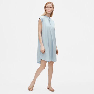 Tencel Jersey Mandarin Collar Dress