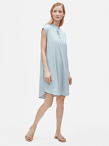 Fine Jersey Mandarin Collar Dress
