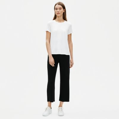 Fine Tencel Jersey Straight Cropped Pant