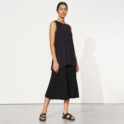 Tencel Jersey Wide-Leg Culotte Pant
