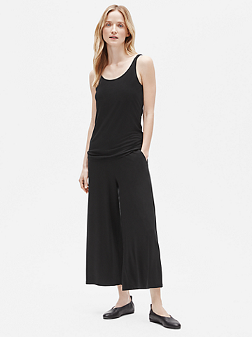 Tencel Jersey Wide Ankle Pant