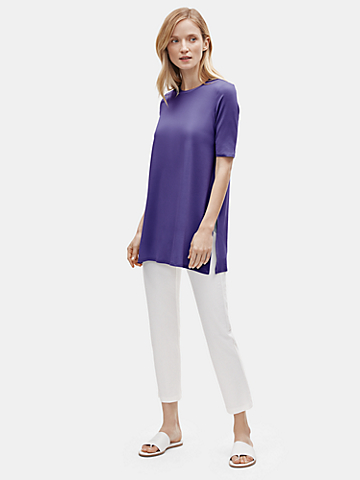 Tencel Jersey Elbow-Sleeve Tunic