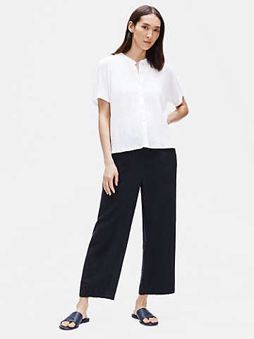 Organic Cotton Gauze Straight Pant