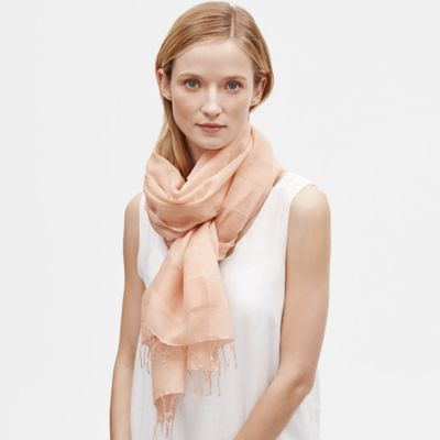 Handloomed Organic Cotton Silk Stripe Scarf