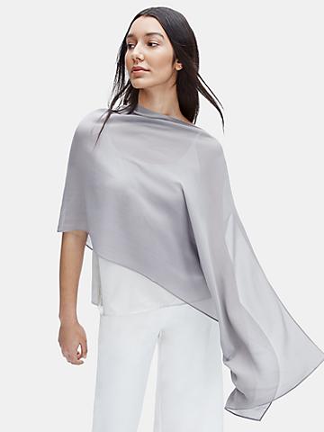 Sheer Silk Georgette Wrap