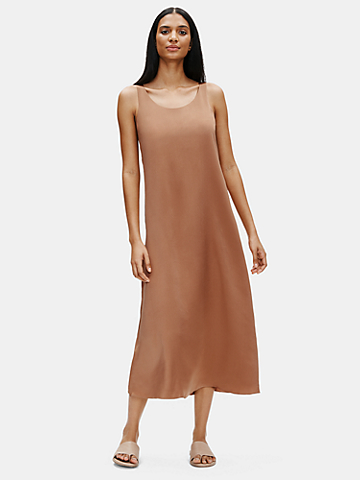 Limited Edition Hammered Silk Maxi Dress