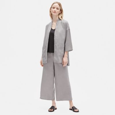 Heavy Organic Linen 3/4-Sleeve Jacket