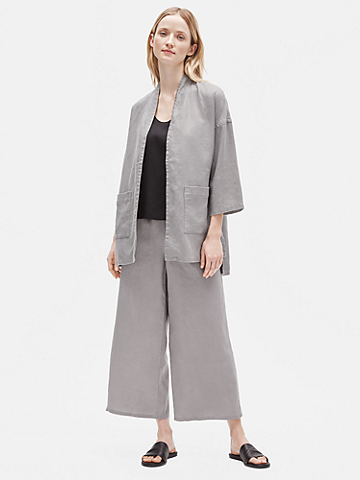 Heavy Organic Linen 3/4-Sleeve Jacket