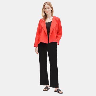 Heavy Organic Linen Drape Front Jacket