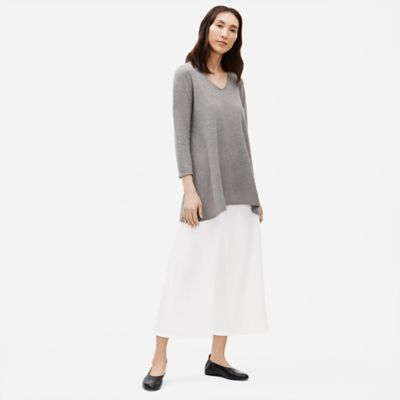 Hemp Organic Cotton Twist V-Neck Tunic