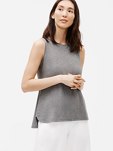 Hemp Organic Cotton Twist Scoop Neck Shell
