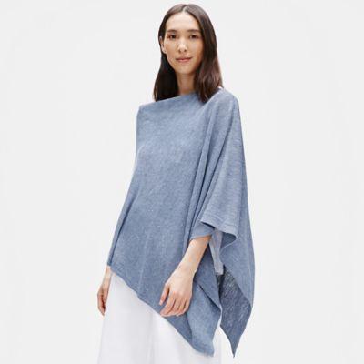 Organic Linen Melange Poncho