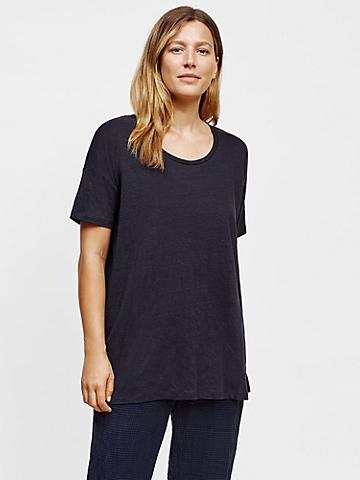 Organic Linen Jersey U-Neck Tunic