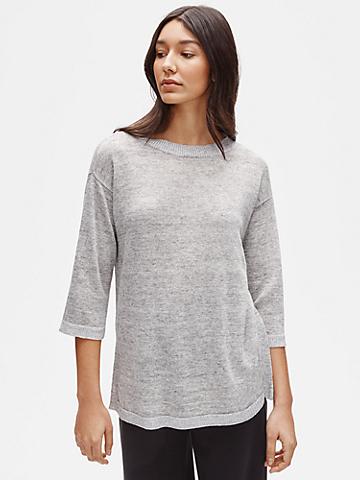 Organic Linen Melange Round Neck Tunic