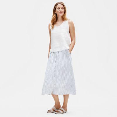 Hemp Organic Cotton Striped Skirt