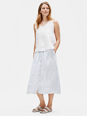 Hemp Organic Cotton Striped Skirt