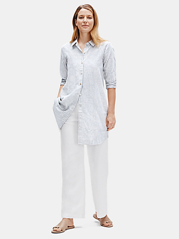 Hemp Organic Cotton Striped Shirtdress