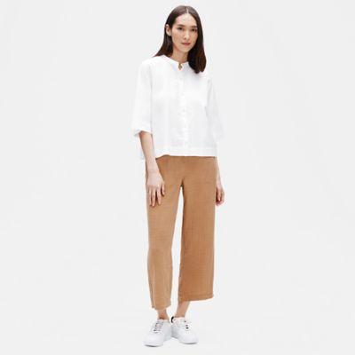 Organic Cotton Elbow-Sleeve Shirt