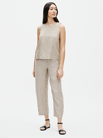 Washed Organic Linen Delave Shell