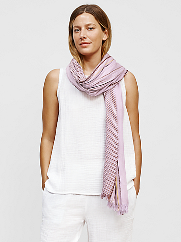 Organic Cotton Stitched Stripe Wrap