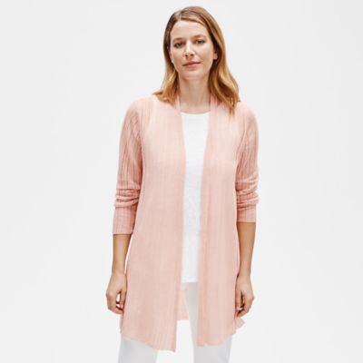 Organic Linen Crepe Long Cardigan