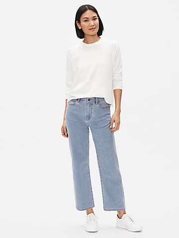 Organic Cotton Stretch Wide-Leg Jean