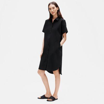 Organic Cotton Poplin Shirtdress