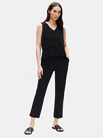 Organic Cotton Poplin Tapered Pant