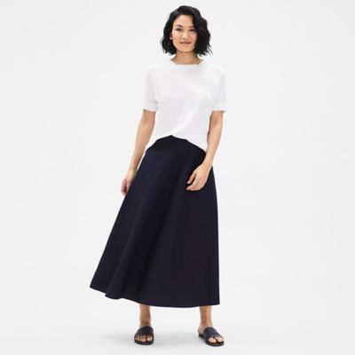 Organic Cotton Poplin Circle Skirt