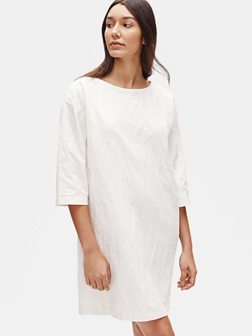 Organic Cotton Steel Shift Dress