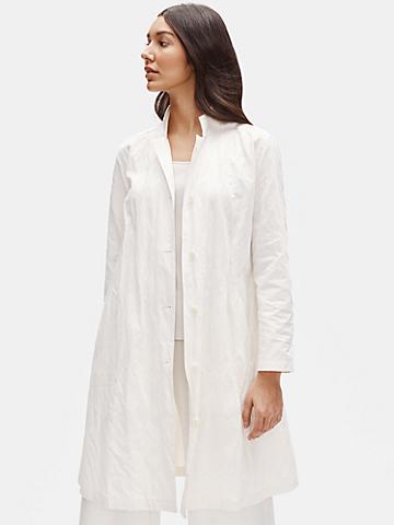 Organic Cotton Steel Stand Collar Coat