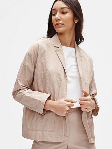 Organic Cotton Steel Boxy Jacket